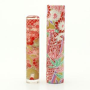 おしゃれはんこ/和紙柄筒セット W-67 (12.0mm)