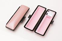 印鑑ケース ライトカーボン調デザインケース ピンク 10.5-12.0mm