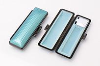 印鑑ケース ライトカーボン調デザインケース ブルー 10.5-12.0mm