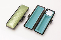 印鑑ケース ライトカーボン調デザインケース グリーン 10.5-12.0mm