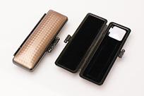 印鑑ケース ライトカーボン調デザインケース ライトブラウン 10.5-12.0mm