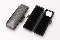 印鑑ケース ライトカーボン調デザインケース ブラック 10.5-12.0mm