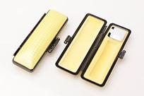 印鑑ケース ライトカーボン調デザインケース イエロー 12.5-15.0mm