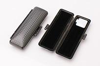 印鑑ケース ライトカーボン調デザインケース ブラック 16.5-18.0mm