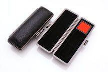印鑑ケース 個人用角印ケース 【ブラックメタル枠】 16.5-18.0mm