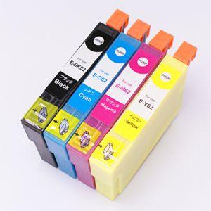 互換インクカートリッジ エプソン(EPSON)互換インク IC4CL62(4色セット IC62【BK/C/M/Y】)
