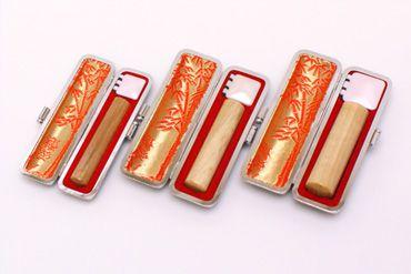 実印・銀行印・認め印セット 楓 実印13.5mm【銀枠】