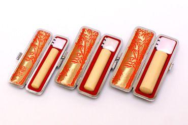 実印・銀行印・認め印セット 薩摩本柘 実印13.5mm【銀枠】