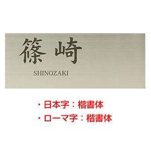 ステンレス シンプルワード表札 200×80mm