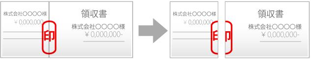 割印の使用例イメージ