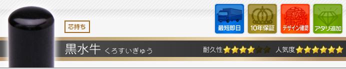 黒水牛印鑑セット作成
