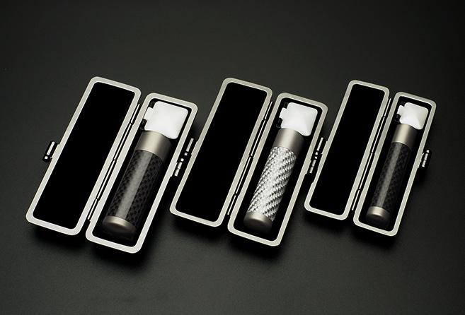 実印・銀行印セット リアルカーボンチタン 実印13.5mm